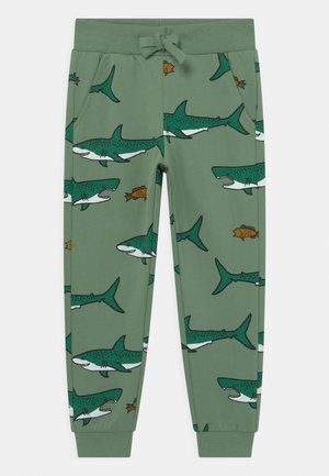 MINI SHARK - Tracksuit bottoms - light green