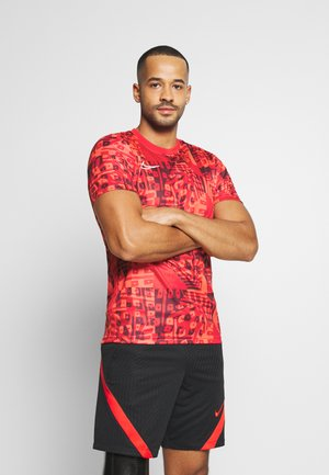 DRY ACADEMY  - Print T-shirt - bright crimson/white