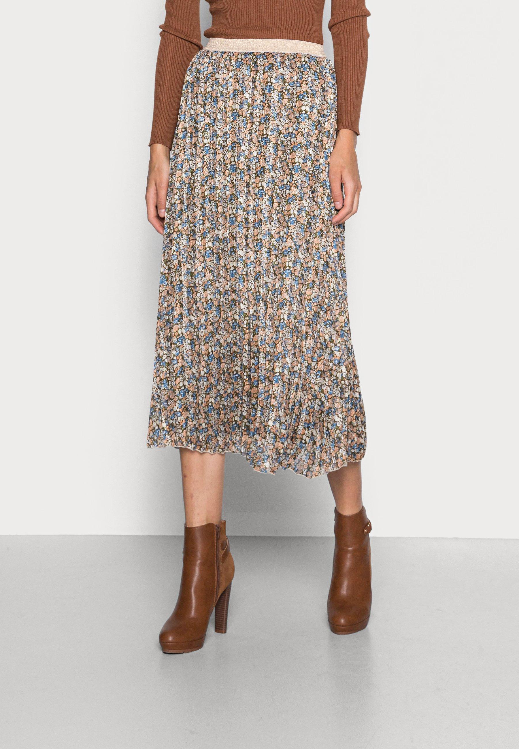 Women SKIRT BLURRED FLOWER - A-line skirt