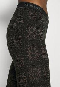 Icebreaker - VERTEX CRYSTALLINE - Leggings - Trousers - black/mink - 5