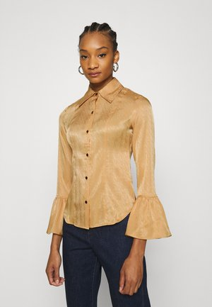 70'S RUFFLE CUFF - Blouse - toffee