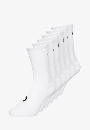 6 PACK - Calcetines de deporte - real white