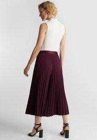 Esprit Collection - CULOTTE - Trousers - bordeaux red - 2
