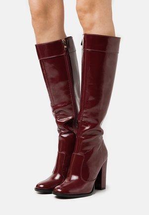 KOLUMN - High heeled boots - burgundy