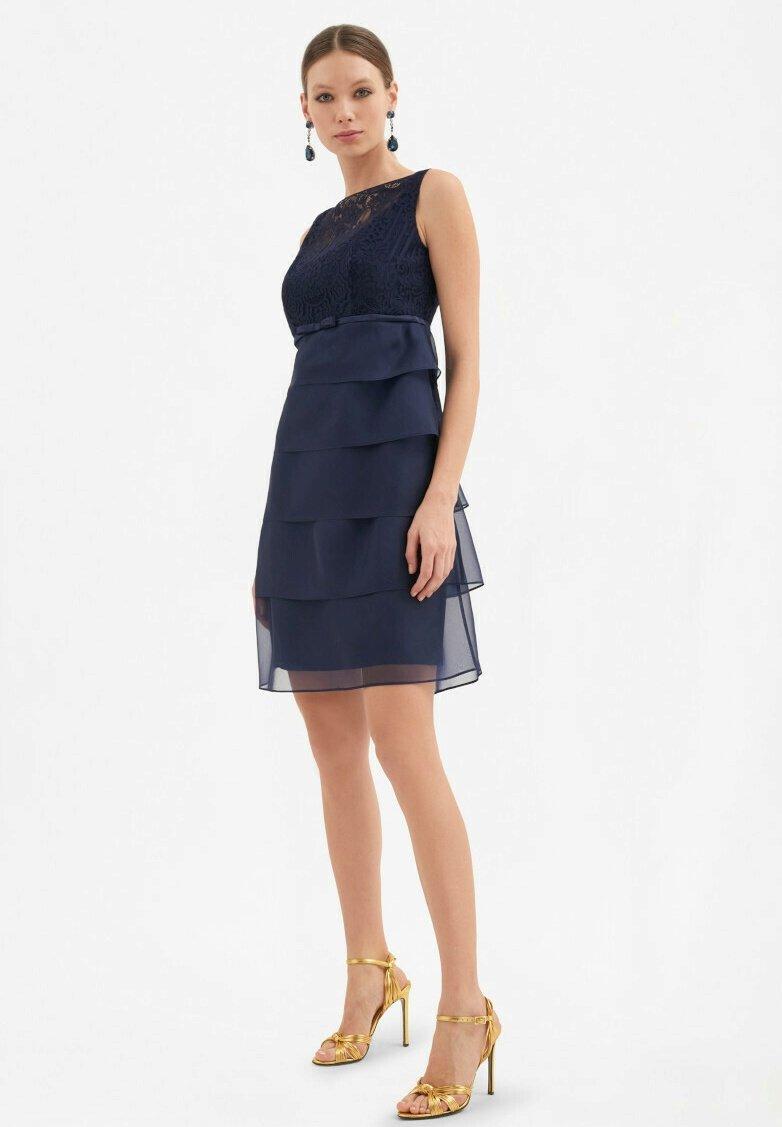 Luisa Spagnoli - PREMESSA - Cocktail dress / Party dress - blu notte/blu notte/blu notte