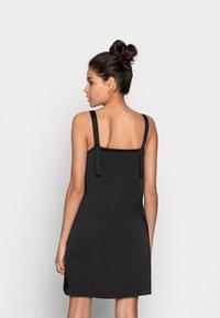 Calvin Klein Jeans - WIDE STRAPS DRESS - Cocktail dress / Party dress - black - 2
