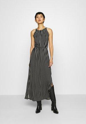 STRIPED NECKHOLDER DRESS - Jerseykjoler - black/white