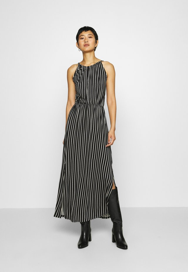 STRIPED NECKHOLDER DRESS - Vestido ligero - black/white
