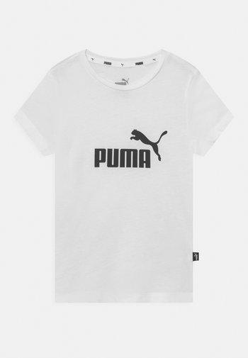 LOGO TEE UNISEX - T-shirt print - puma white