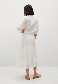 Mango - A-line skirt - hvit - 2