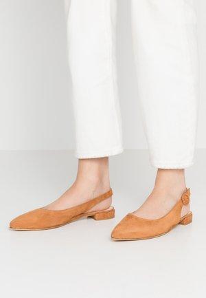 Slingback ballet pumps - cognac