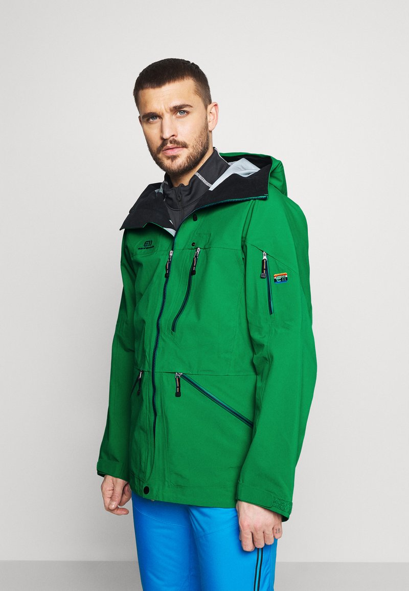 State of Elevenate - MENS BACKSIDE JACKET - Giacca da sci - green