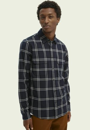 REGULAR FIT CHECKED TWILL - Shirt - combo d
