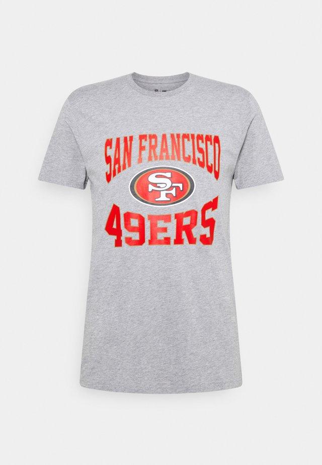 SAN FRANSISCO 49ERS NFL TEAM LOGO TEE - Klubové oblečení - light grey heather