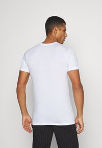 Denim Project - 5 PACK  - T-shirt - bas - olive night melange/bordeaux melange - 3