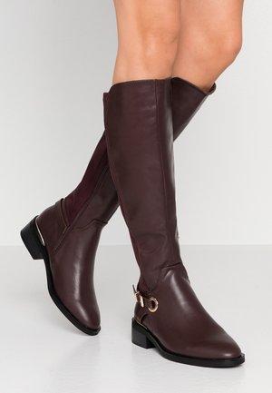 KIKKA FORMAL RIDING BOOT STRETCH BACK - Boots - burgundy