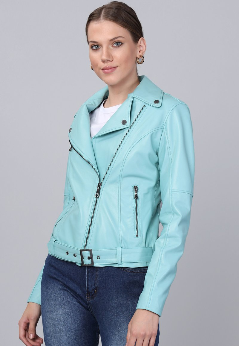 Basics and More - Leather jacket - mint