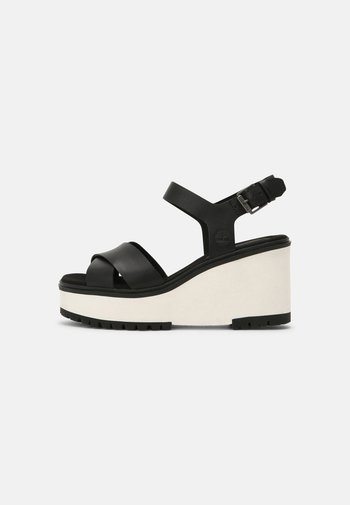 KORALYN X STRAP - Platform sandals - black