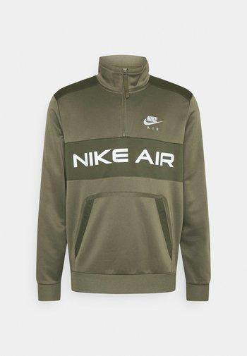Sweatshirt - medium olive/cargo khaki/white