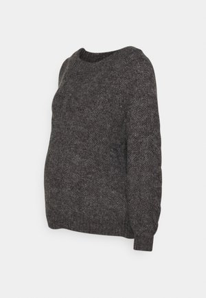 PCMSHELBY BOAT NECK - Jumper - dark grey melange