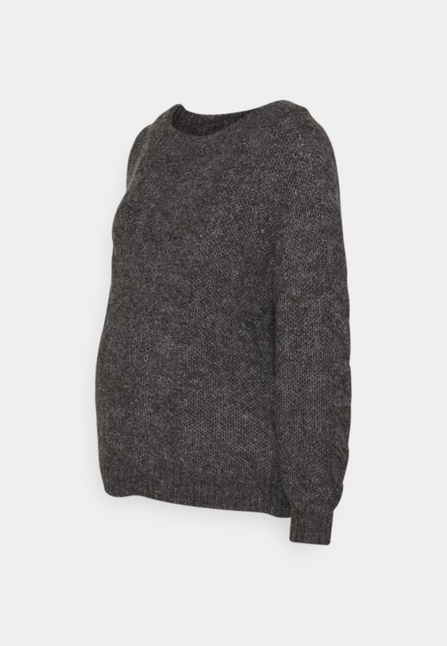 PCMSHELBY BOAT NECK - Jersey de punto - dark grey melange