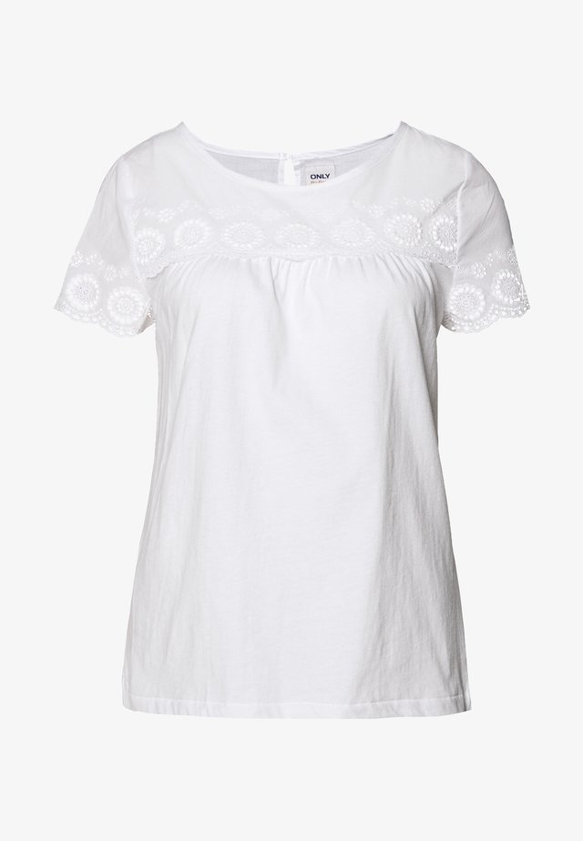 ONLALICE LIFE TEE TALL - T-shirt con stampa - white