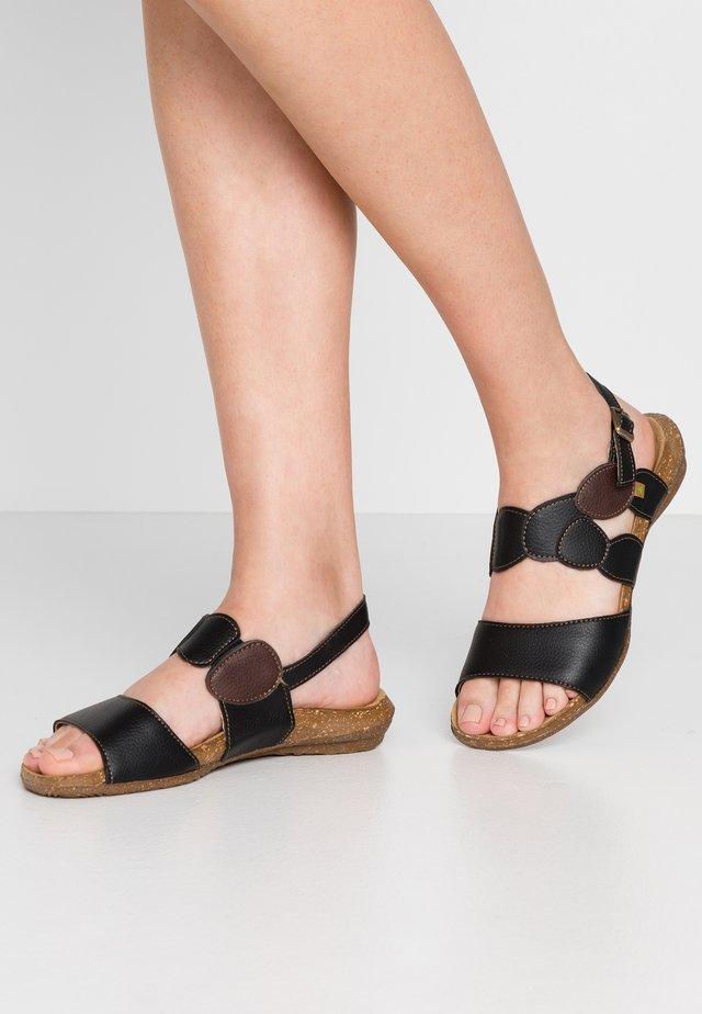 WAKATAUA VEGAN - Sandaalit nilkkaremmillä - black rugged