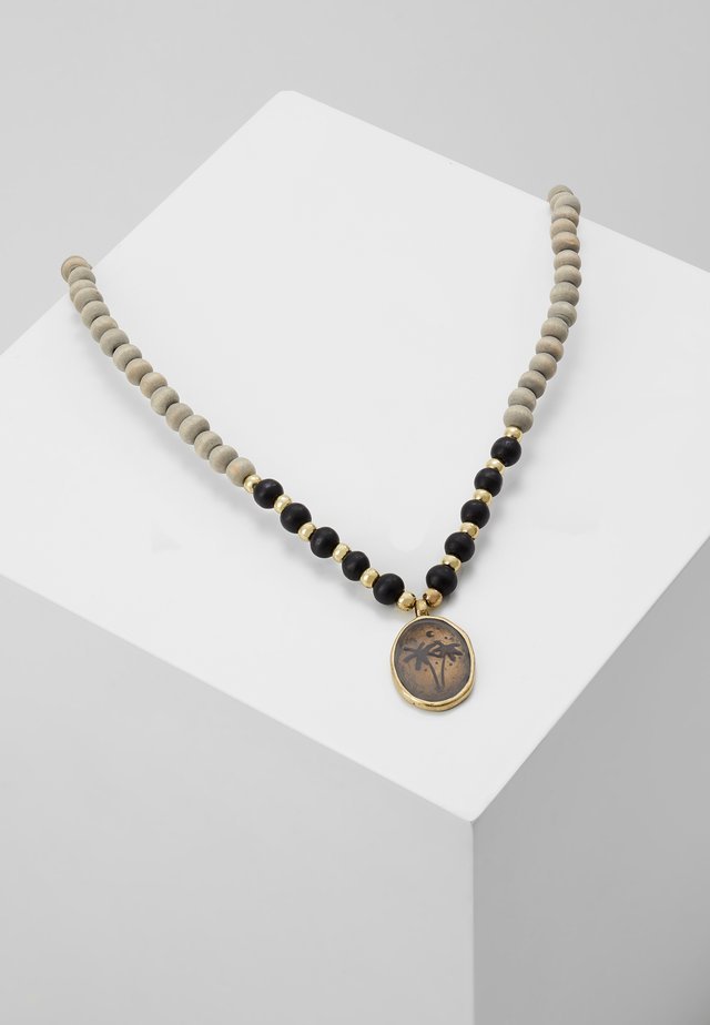 WASH OUT BEADED NECKLACE - Smykke - grey
