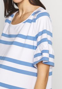 Slacks & Co. - VERONIKA - Jersey dress - sky blue/white - 4