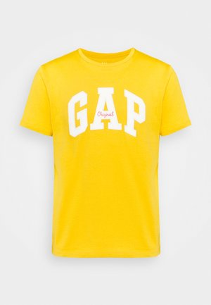 LOGO ARCH - Print T-shirt - rugby gold