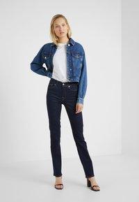 7 for all mankind - BAIR CLEAN RINSE - Straight leg jeans - dark-blue denim - 1