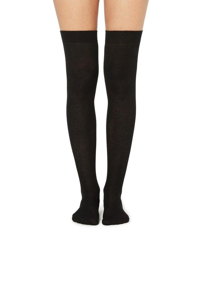 Over-the-knee socks - nero