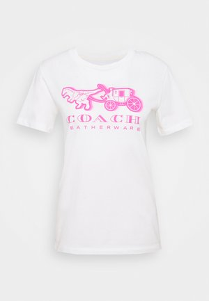 NEON HORSE AND CARRIAGE  - T-shirt imprimé - white