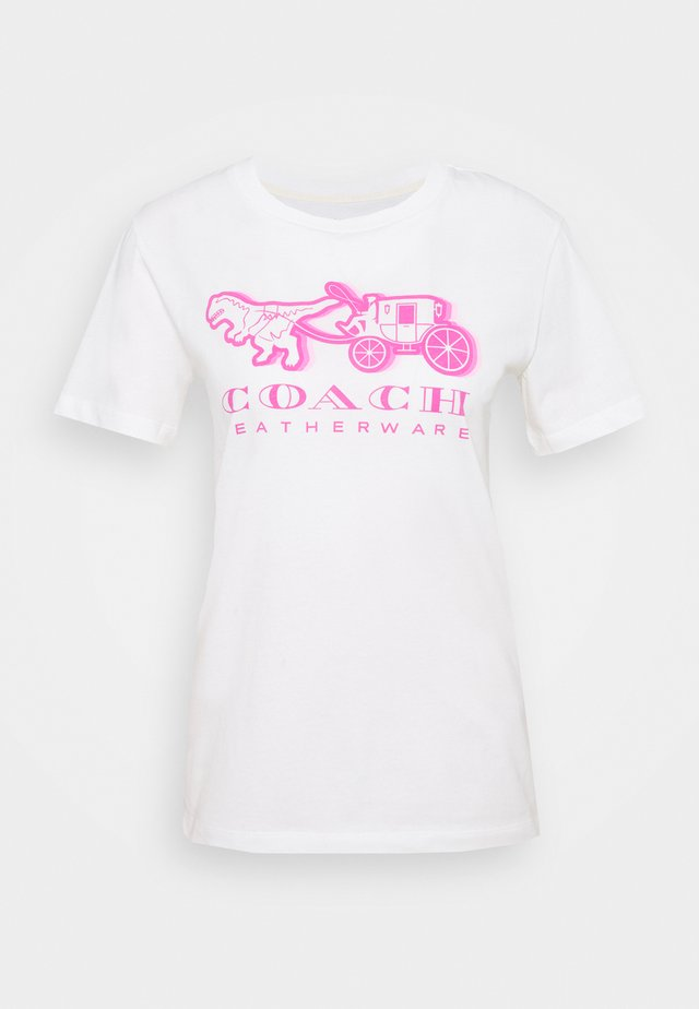 NEON HORSE AND CARRIAGE  - T-shirt print - white