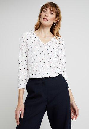 PRINTED CRINCLE - Bluzka z długim rękawem - white