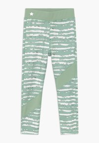 South Beach - GIRLS COLOR BLOCK - Collants - sage green - 0