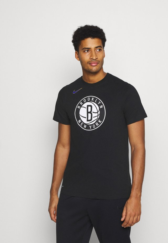 NBA BROOKLYN NETS CITY EDITION DRY TEE - Club wear - black