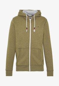 Tommy Jeans - ZIPTHROUGH - Zip-up hoodie - uniform olive - 5