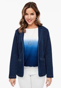 Triangle - BLAZER AUS FELPA-DENIM - Denim jacket - deep blue - 0