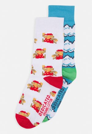 SOCKS SIGTUNA CLOUDS AND SUPER MARIO UNISEX 2 PACK - Skarpety - blue/white