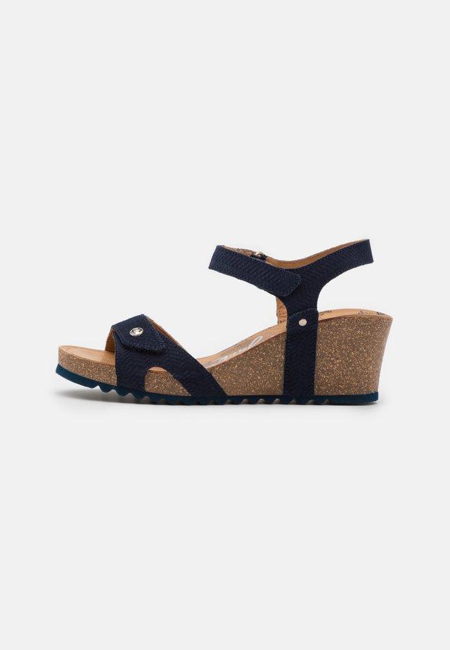 JULIA MENORCA - Korkeakorkoiset sandaalit - navy