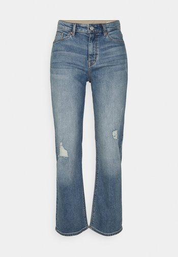 Straight leg jeans - blue stretched