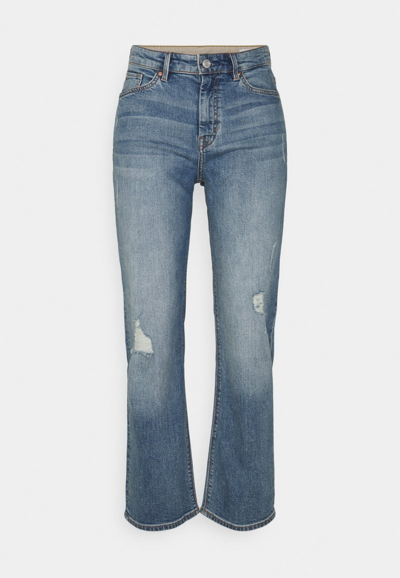 s.Oliver - Straight leg jeans - blue stretched
