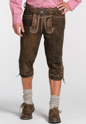 OTTFRIED - Leather trousers - brown