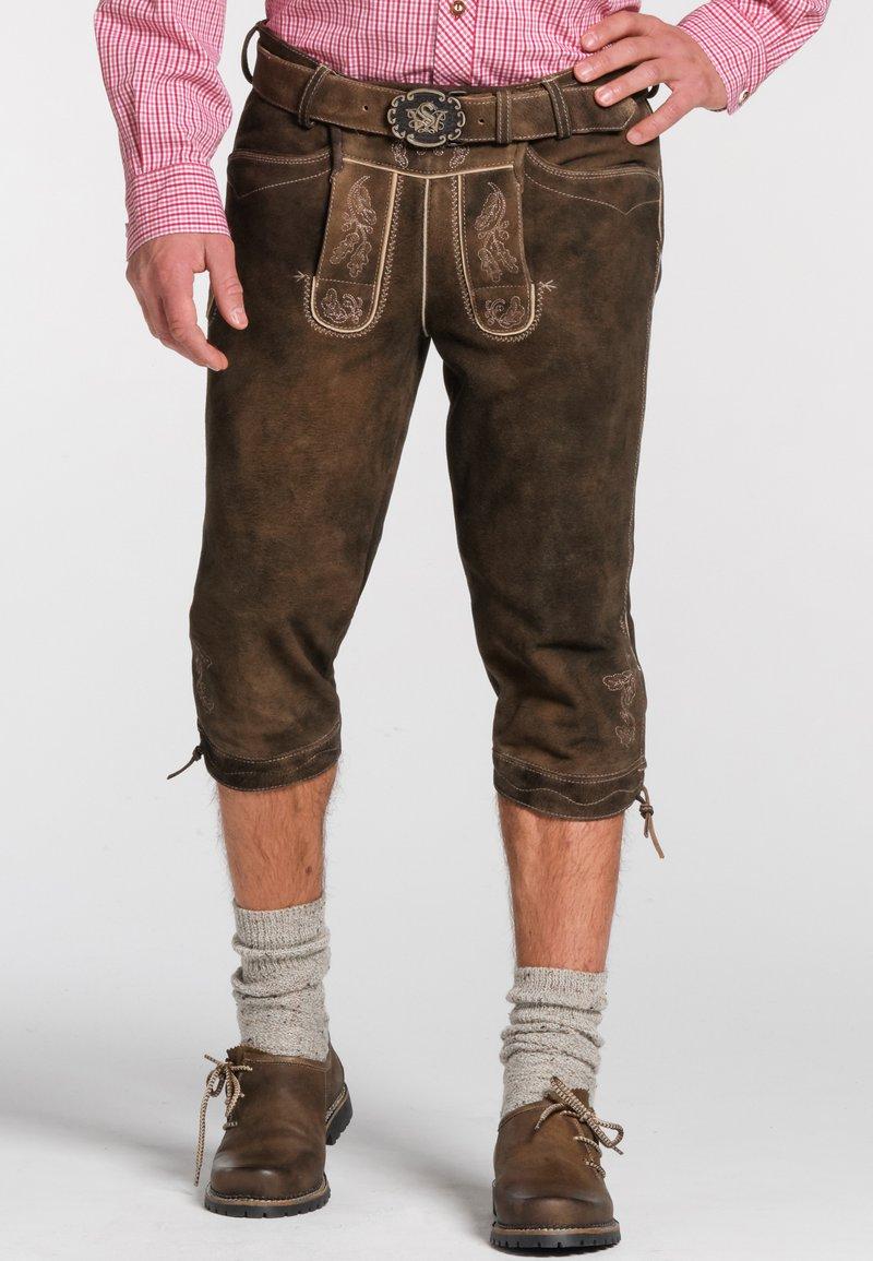 Spieth & Wensky - OTTFRIED - Leather trousers - brown