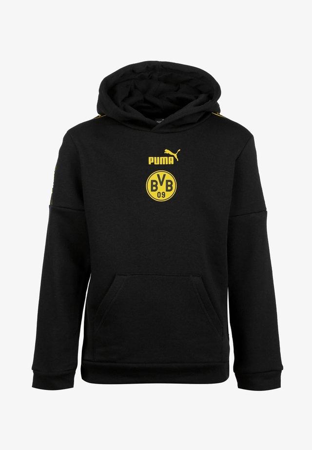 DORTMUND FTBLCULTURE - Jersey con capucha - puma black / cyber yellow
