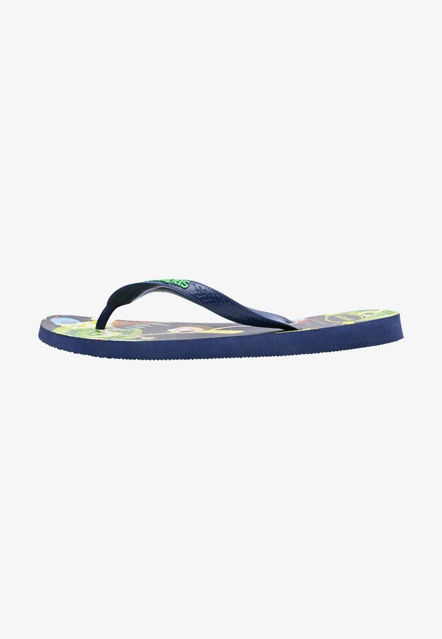 TOP RICK AND MORTY - Pool slides - navy blue