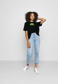 Nike Sportswear - AIR TOP  - T-Shirt print - black/volt - 1