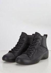 ECCO - SOFT  - Lace-up ankle boots - black/black - 2