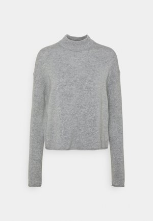 CROPPED MOCK CASH - Jumper - light heather grey
